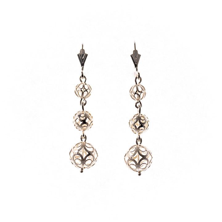 Ohrringe Tracht 835 Silber