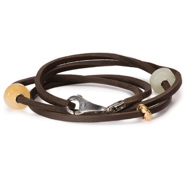 Armband 925 Silber braun 36 cm