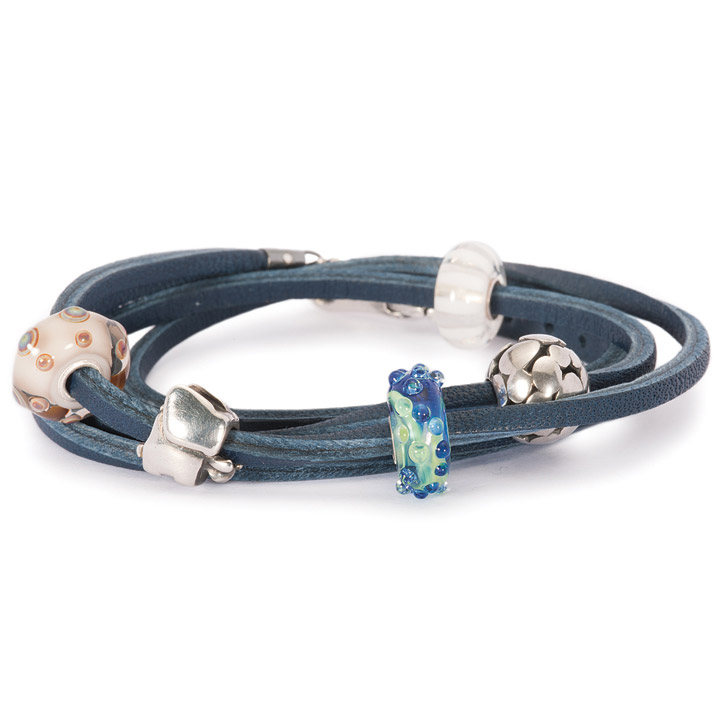 Armband 925 Silber blau 41 cm
