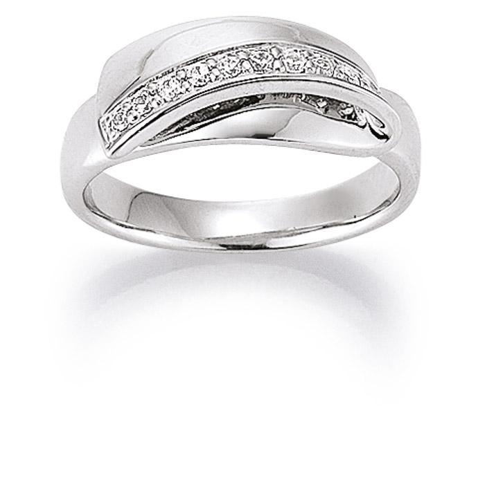 Ring 925 Silber Zirkonia, 54 / 17,2