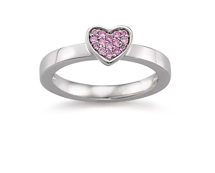 Ring 925 Silber Zirkonia Pink, 56 / 17,8