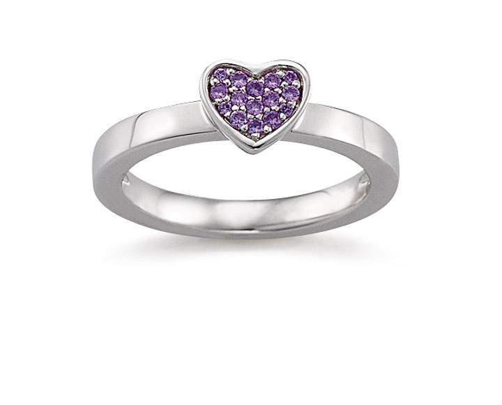 Ring 925 Silber Zirkonia violiett