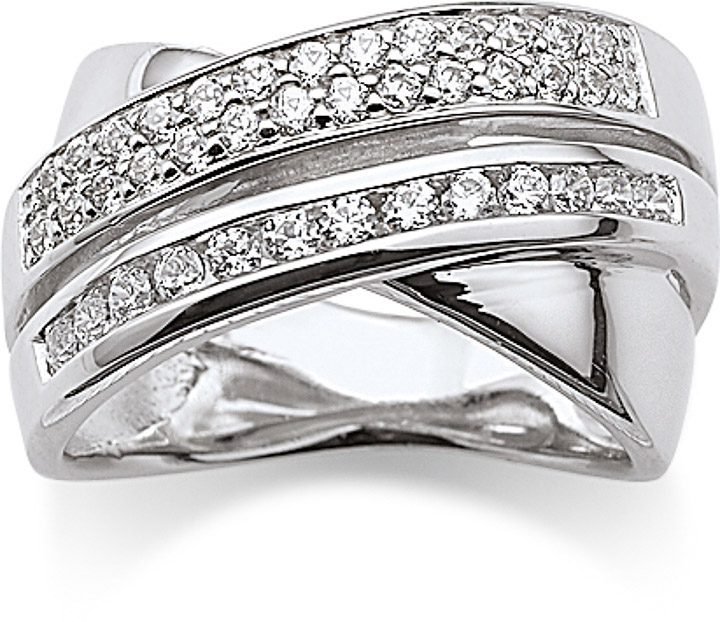 Ring 925 Silber Zirkonia weiss, 50 / 15,9