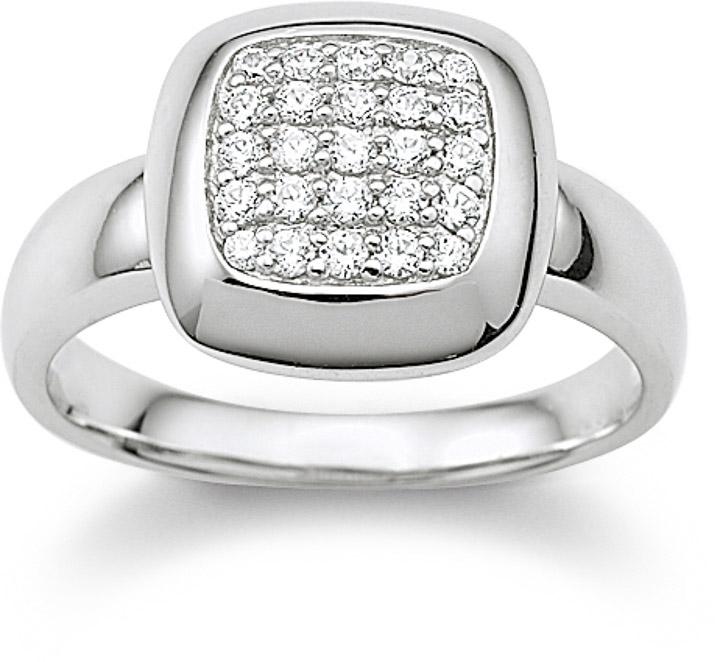 Ring 925 Silber Zirkonia weiss, 56 / 17,8
