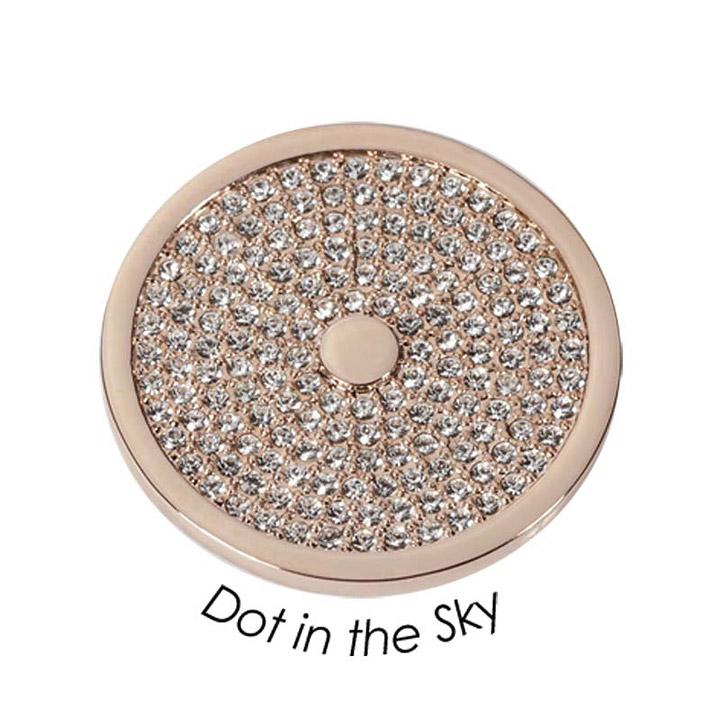 Wechsel-Münze Dot in the Sky, PVD rosé vergoldet, M
