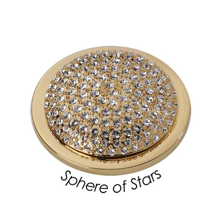 Wechsel-Münze Sphere of Stars, PVD vergoldet, S