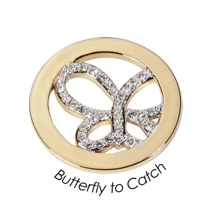 Wechsel-Münze Butterfly to Catch, PVD vergoldet, M