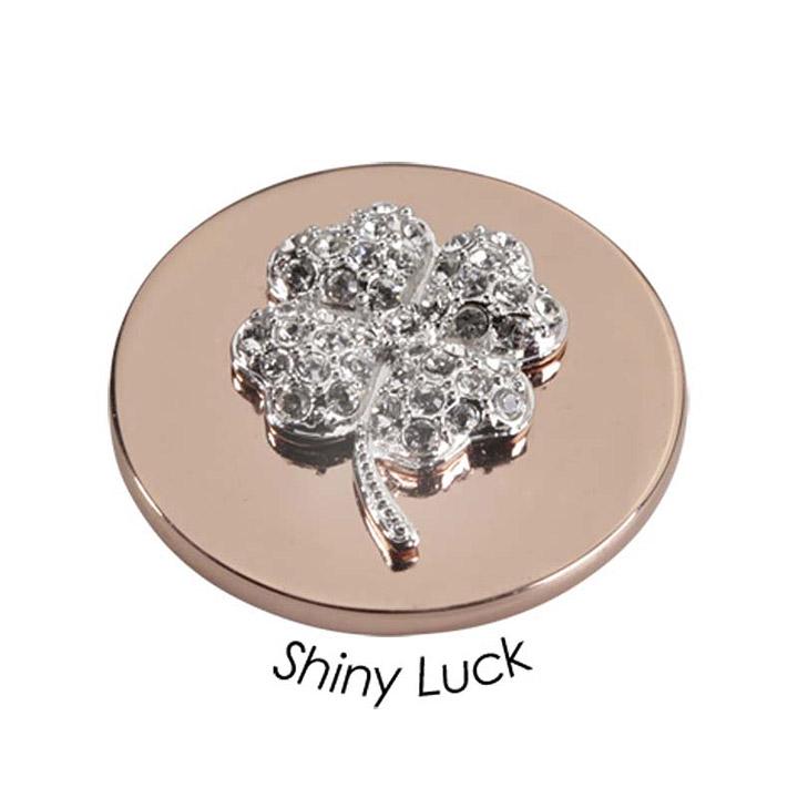 Wechsel-Münze Shiny Luck, PVD rosé vergoldet, M