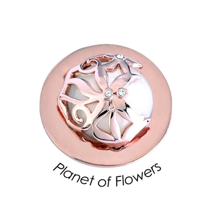 Wechsel-Münze Wechsel-Münze Planet of Flower, PVD rosé vergoldet, S