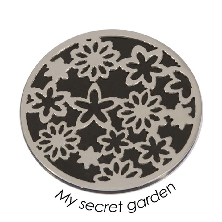 Wechsel-Münze My Secret Garden, PVD Black Plated, L
