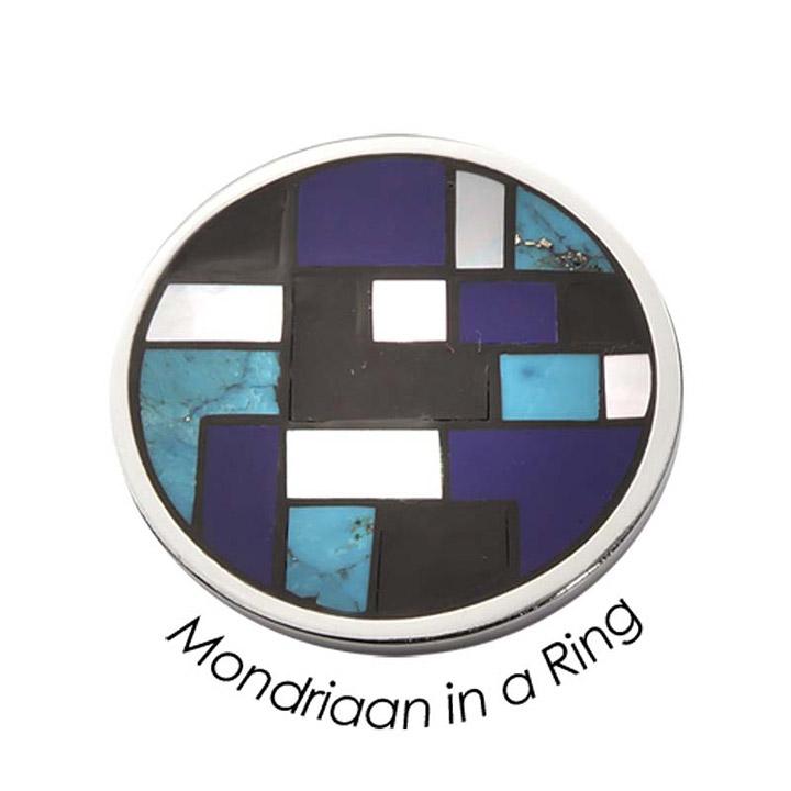Wechsel-Münze Illusion, Mondriaan in a Ring, Blue, L