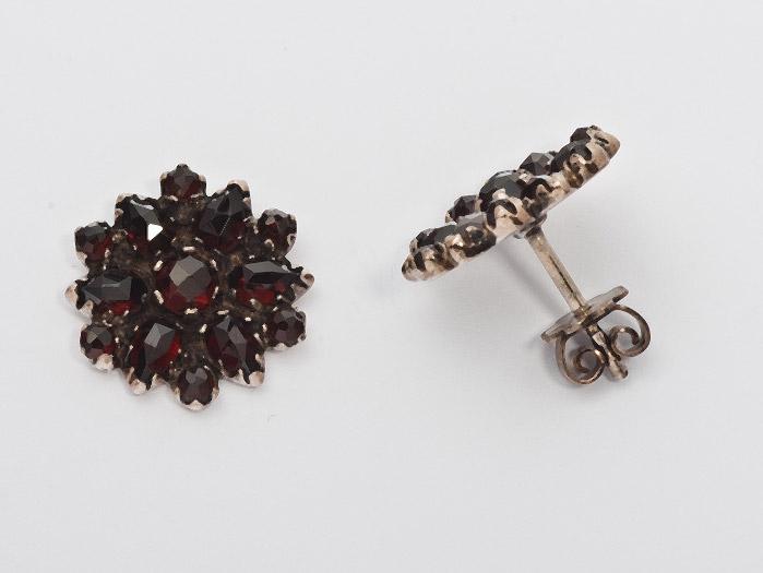 Ohrringe Granat 925