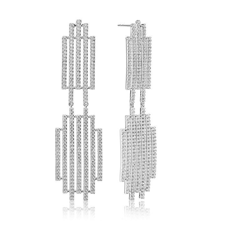 Ohrringe 925 Silber Rufina Grande mit weißen Zirkonia