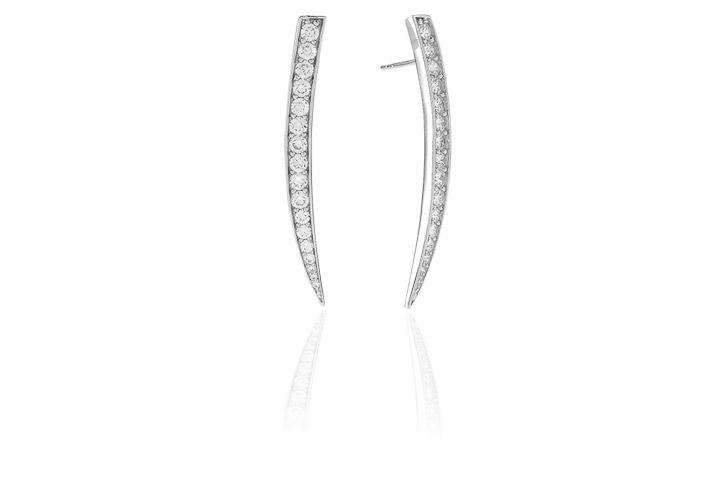 Ohrringe 925 Silber Pila Grande mit weißen Zirkonia