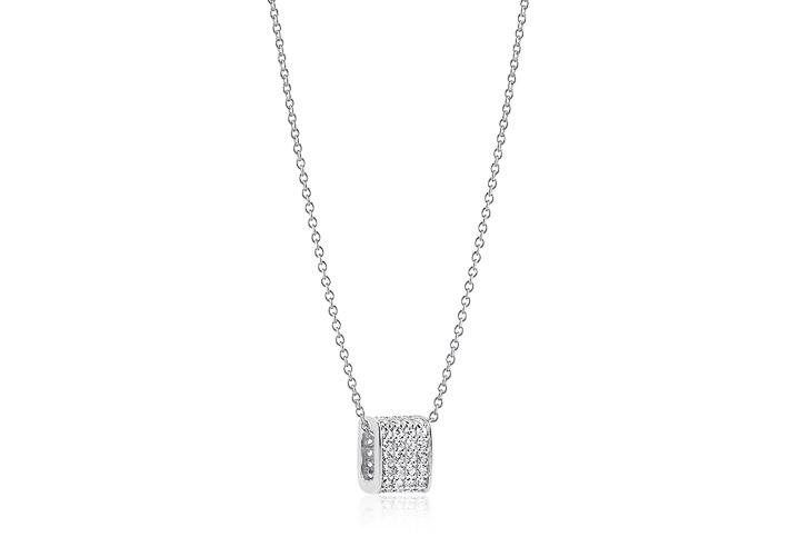 Halskette 925 Silber Matera mit weißen Zirkonia