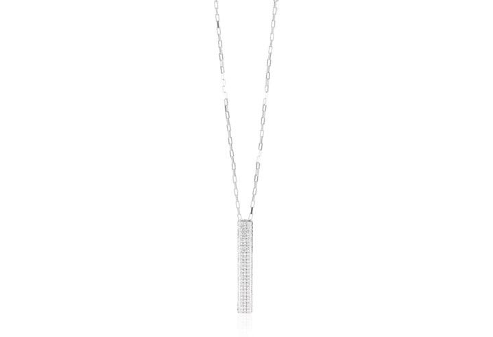 Halskette 925 Silber Bacoli mit weißen Zirkonia