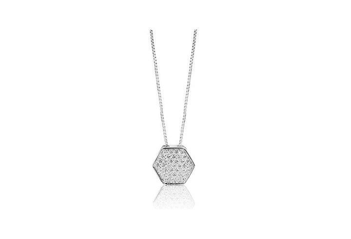 Halskette 925 Silber Narni mit weißen Zirkonia