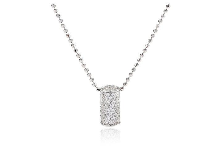 Halskette 925 Silber Portici Circolari mit weißen Zirkonia