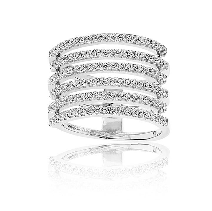 Ring 925 Silber Rufina Piccolo mit weißen Zirkonia, 56 / 17,8