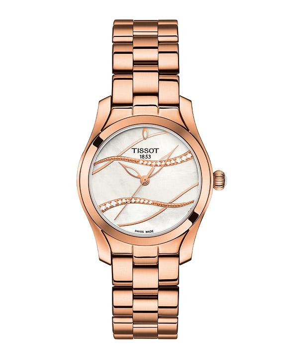Armbanduhr Damen T-WAVE II DIAMOND ROSE PVD
