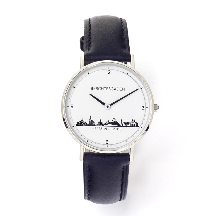 Armbanduhr Berchtesgaden Damen Lederband schwarz
