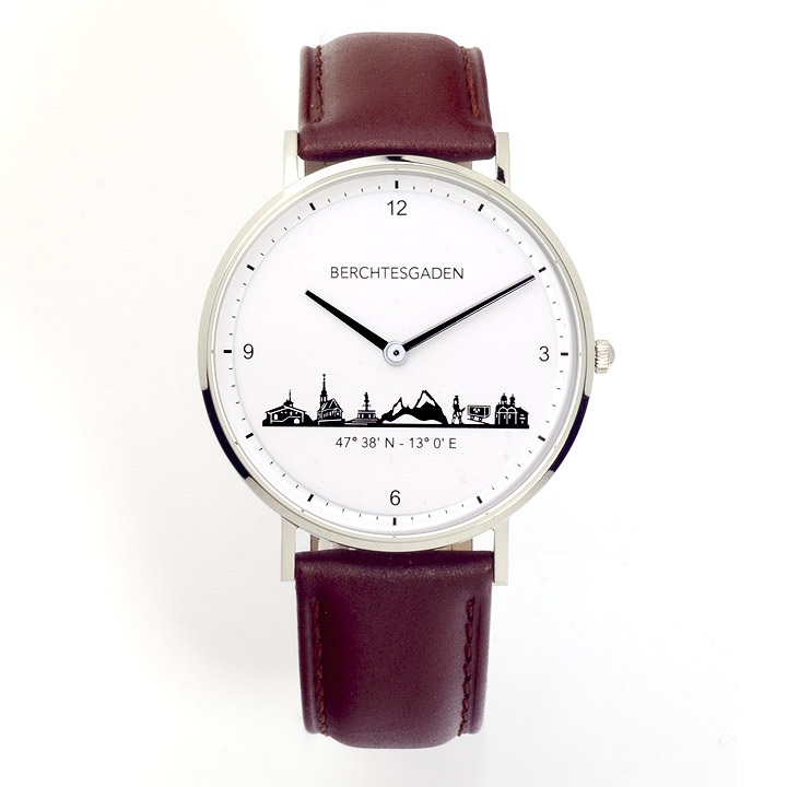 Armbanduhr Berchtesgaden Herren Lederband braun