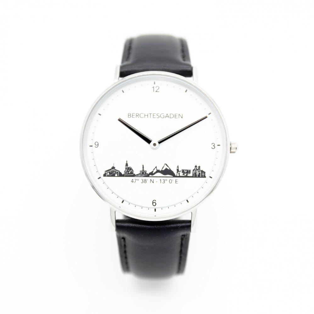 Armbanduhr Berchtesgaden Herren Lederband schwarz