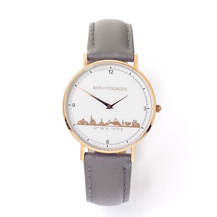 Armbanduhr Berchtesgaden Damen Lederband taupe
