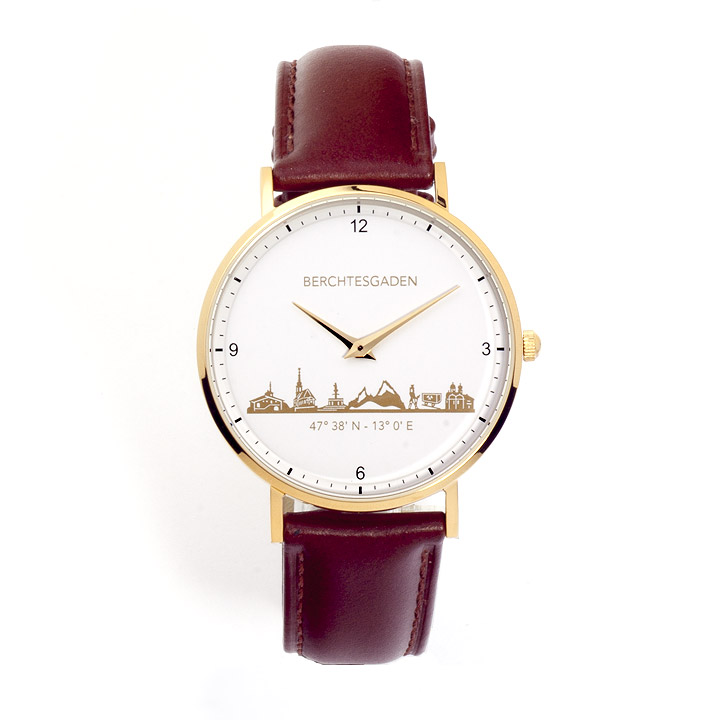Armbanduhr Berchtesgaden Damen Lederband braun