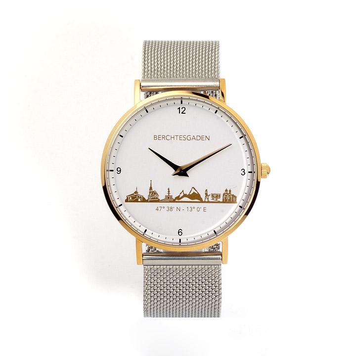 Armbanduhr Berchtesgaden Damen Milanaiseband silber