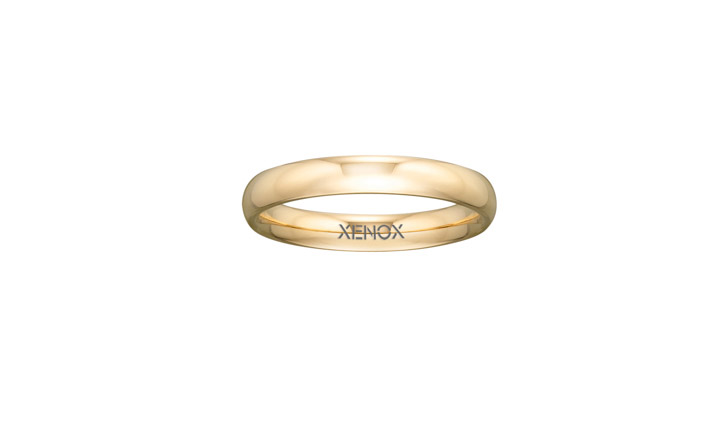 Ring Edelstahl IP gelbgold, 52 / 16,6