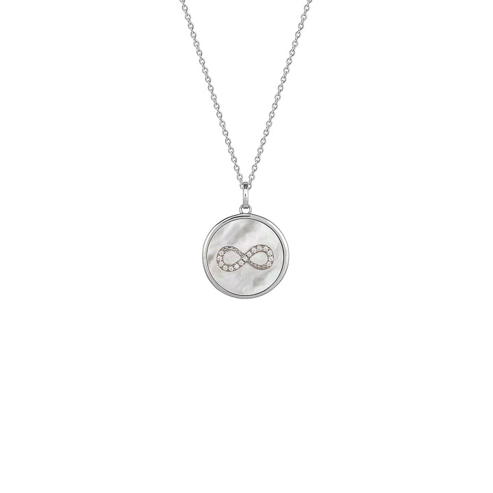 Collier 925 Silber Zirkonia 60 cm