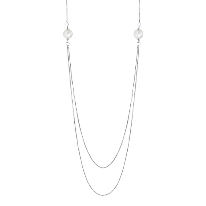 Collier 925 Silber Zirkonia 80-85 cm