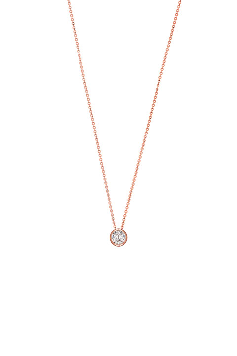 Collier 925 Silber Zirkonia rosé vergoldet 40-45 cm