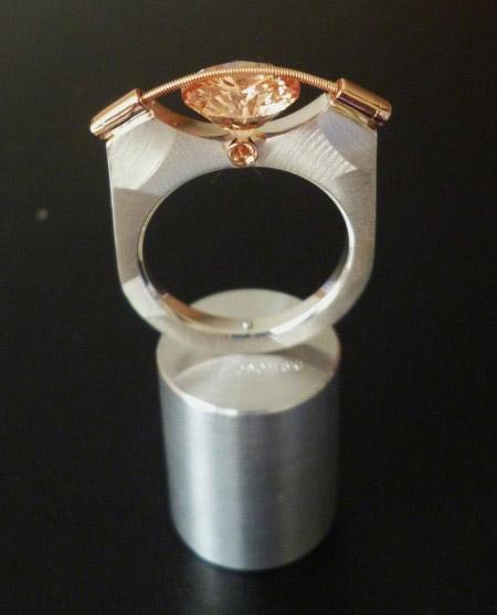 T. Plodowski Ring 925 Silber Zirkonia champagner light. 3.JPG