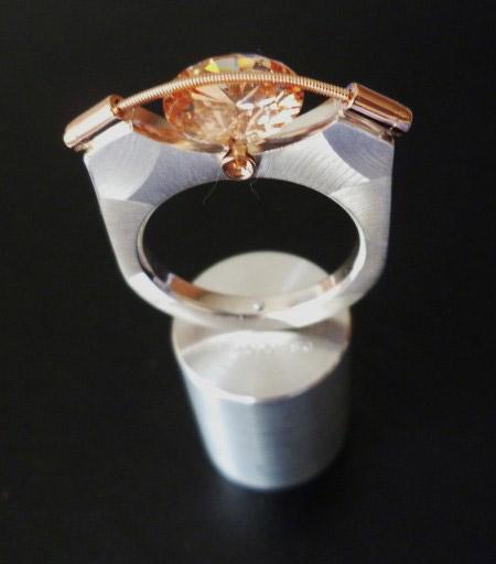T. Plodowski Ring 925 Silber Zirkonia champagner light. 2.JPG