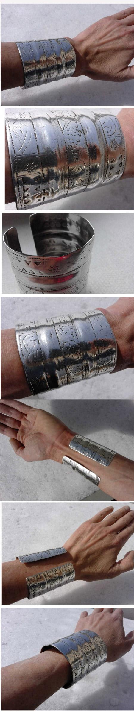 alter breiter Armreif Silber