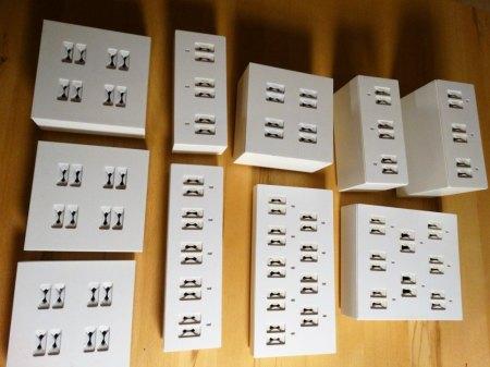BIETE: Deko-Set für Partner-Ringe 11-teilig weiß und Preisauszeichnungs-System schwarz von LANSA