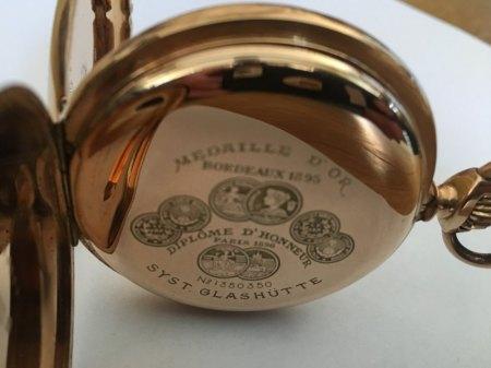 System Glashütte Medaille d´Or 1895 - 14 Karat 119,8 Gramm von meinem Opa ca 1930