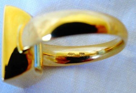 Aquamarin - Gelbgoldring zu verkaufen
