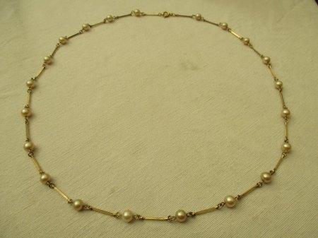 Werteinschätzung Kette mit Perlen, 585,AM,11,4g