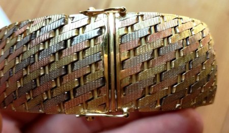 Tricolor Goldarmband 585 Gold