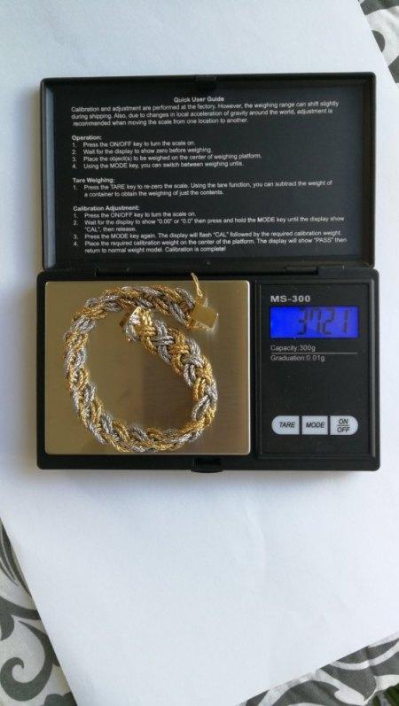 Ich biete ein 750er Geflecht-Armband