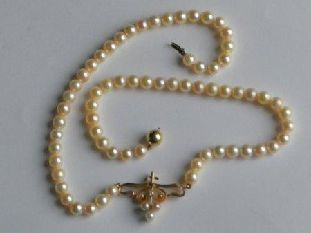 Ich biete eine Perlenkette mit Anhänger