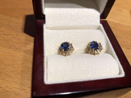 Ohrringe Saphire/Diamanten
