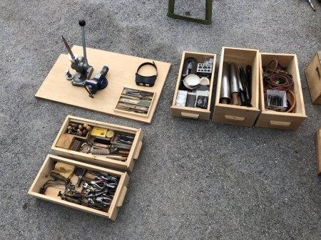 Verkaufe Uhrenmacher-und Goldschmiedewerkzeug aus Nachlass komplett