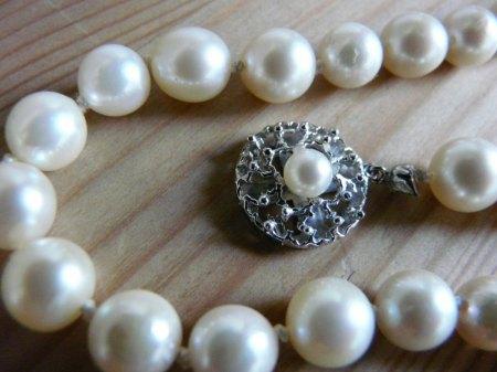 Perlenketten mit 585 Gold Verschluss