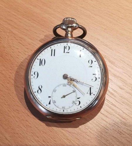 Wertschätzung goldene Taschenuhr M.B. & Co 1912