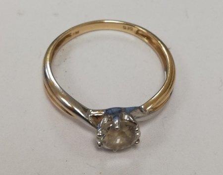 Gold Silberner Ring mit Stein