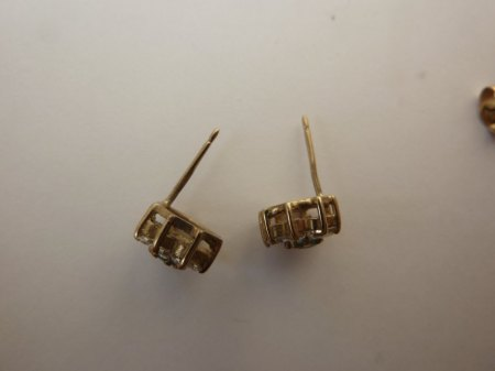 Bewertung Ohrstecker Gold 375 /Steinbesatz